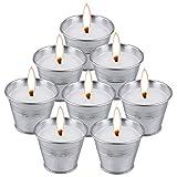 Macoya 8 Stück Citronella Kerze, Anti Mücken Kerzen Outdoor Indoor, Vertreibe Fliegen Mücken Insekten, Zitronella Kerze für Garten, Terrasse
