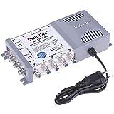 DUR-line MS 5/8 G-HQ Multischalter - SAT für 8 Teilnehmer/TV - mit stromspar Netzteil - Made in Germany - Multiswitch [Digital, HDTV, FullHD, 4K, UHD]