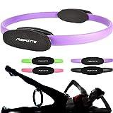 MSPORTS Pilates Ring Premium I Widerstandsring - Doppelgriff Pilates Yoga Ring 38 cm Übungskreis (Violett)