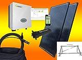 1800Watt Balkonkraftwerk MIT MONTAGEMATERIAL ALS AUFSTÄNDERUNG/WANDBEFESTIGUNG/Solaranlage mit Internetüberwachung von bau-tech Solarenergie GmbH