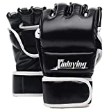 Xinluying MMA Boxhandschuhe 30mm Polsterung Kampfsport Boxsack Sparring Freefight Training Grappling Sandsack Punchinghandschuhe Herren Damen Leder