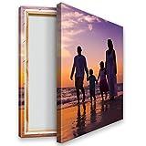 Ihr Foto auf Leinwand 20x30 cm Hochformat. Echtholz-Keilrahmen. Ihr eigenes Bild auf Leinwand mit Keilrahmen - Wandbild mitWunschmotiv - Personalisiertes Kunstdruck