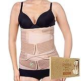 3-in-1-Packung Zur Unterstützung Der Genesung Nach Der Geburt - Bauchband Für Schwangerschaft, Mutterschaft - Gürtel Für Frauen Body Shaper - Shapewear Gürtel (Classic Ivory, One Size)