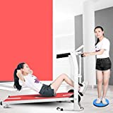 MG REAL Startseite Laufband Mechanische Laufender Maschine Folding Space Saver Fitness Gehmaschine,Rosa