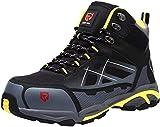 LARNMERN Sicherheitsschuhe Arbeitsschuhe Herren, Sicherheit Stahlkappe Stahlsohle Anti-Perforations Luftdurchlässige Schuhe, LM-1702 (43 EU Schwarz)