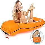 Tolaccea Pool Hängematte mit Mesh Aufblasbare Wasserhängematte luftmatratzen Liege Wasser Bett Floating Lounge Stuhl Schwimmbad Aufblasbarer Spielzeug Orange