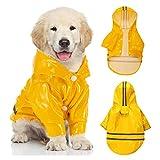 SCOBUTY Haustier Hund Regenmantel,Regenmantel Hund,Hund Regenmantel Wasserdicht,Hunderegenmantel mit Reflektierendem Streifen,Geeignet für Kleine und Mittlere Haustiere