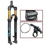 AIFCX 26' Mountainbike-Federgabel, 1-1/8' leichte Magnesiumlegierung MTB Bike Gas Gabel Schulter Steuerung 100mm,C-29inch