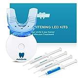AutoSmile Teeth Whitening Kit - Professionell Home Zahnaufhellung Set,Zähne Aufhellen Bleaching Set,3x Gel Stift,1x Desensibilisierungsgel,1x Dental Trays Kit & LED Licht
