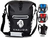 KHALISIA Speed Bag 3in1 | Fahrradtasche für Gepäckträger mit Rucksack | Gepäckträgertasche fürs Fahrrad 22L | PVC frei | wasserdicht & reflektierend