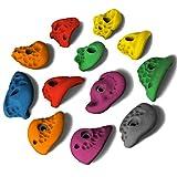 ALPIDEX 12 L Klettergriffe im Set verschieden geformte Henkelgriffe in vielen Farben, tolle Strukturen, mitteltiefe Hinterschneidungen, Farbe:Mixed Colour