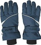 Playshoes Kinder-Unisex Skihandschuhe Thinsulate Fingerhandschuhe mit Klettverschluss, Blau (Marine), 5