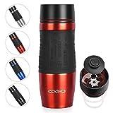 Opard Thermobecher- Travel Mug 350ml- Kaffeebecher to go Thermo- 100% dicht, auslaufsicher, 360°Easy Quick-Press-Verschluss,Trinköffnung- Edelstahl Isolierbecher- Coffee to go Becher
