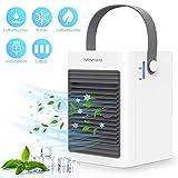 Manwe Mobile Klimageräte, Mini Luftkühler Klimaanlage Persönliche Air Cooler USB Verdunstungskühler Mit Wasserkühlung Ventilator Luftbefeuchtung, 3 Windgeschwindigkeiten, Ideal für Zuhause und Büro