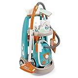 Smoby Spielzeug Reinigungstrolley mit Staubsauger inkl. Soundgeräuschen, Schaufel, Besen, Wischmopp, Spielverpackungen für Kinder ab 3 Jahren