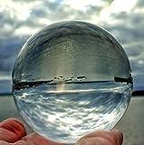 FD2LB1NVL K9 Wunderschöne Kristallkugel-Fotografie Kugel Glaskugel Fotografie-Klare Kristallkugel für Meditation und Heilung-Glaskugel für Dekoration-Fotokugel aus Glas-Lensball(60/80/100 mm)