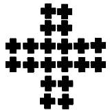 Acizi Assorted 10Pairs Nippel Abdeckungen Einweg Pasties Selbstklebende Brust Blütenblätter (Kreuz schwarz)