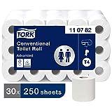 Tork 110782 Kleinrollen Toilettenpapier Premium Qualität für T4 Kleinrollensysteme / 3-lagiges WC-Papier und reißfest, Weiß (30-er pack)