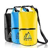 MNT10 Dry Bag Packsack wasserdicht mit Tragegurt I Dry Bags Waterproof 20l I Wasserfeste Tasche für Reisen, Outdoor und Camping I Seesack wasserdicht und widerstandsfähig (Gelb, 20 Liter)