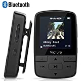 Victure Bluetooth MP3 Player 16GB Mini Sport Musik Player mit Clip, 30 Stunden Wiedergabe Musikplayer mit FM Radio, Unterstützt bis 128 GB SD Karte