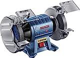 Bosch Professional Doppelschleifer GBG 60-20 (600 Watt, Schleifscheiben-Ø 200 mm, Leerlaufdrehzahl 3.600 min-1, inkl. 2x Schleifscheibe Normalkörnung, im Karton)