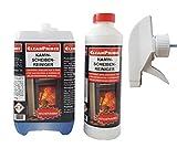CleanPrince Kaminscheibenreiniger 2,5 Liter Nachfüllkanister Kamin Reiniger Ofen Glas Ruß Kaminscheibenreiniger Ofenglas Kaminglas Ofenreiniger Kaminreiniger Kaminreinigung Reinigungsmittel