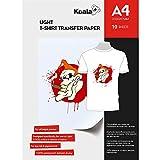 KOALA Inkjet Transferpapier zum Aufbügeln für helles und weißes T-Shirt/Textilien, DIN A4, 10 Blatt. Für Tintenstrahldrucker