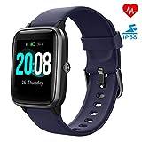 LIFEBEE Smartwatch, Fitness Armband Fitness Tracker Voller Touch Screen Smart Watch IP68 Wasserdicht Fitness Uhr mit Pulsuhren Schrittzähler Damen Herren Armbanduhr Sportuhr für iOS Android (Lila)