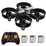 Mini Quadrocopter Drohne für Kinder und Anfänger, RC Quadrocopter, Mini Drone mit 3 Akkus Höhenhaltemodus, Spielzeug Drohne Helikopter, Start / Landung mit einem Knopfdruck, 360 Flip