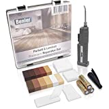 BENLER NEU! - Holz Reparaturset mit 2in1 Wachsschmelzer für Laminat, Parkett & Vinyl - Reparatur Set, auch für PVC und Kunststoff geeignet - 19-teiliges Laminat Reparatur Kit (Holzreparatur Set)