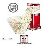 Rosenstein & Söhne Popkornmaschine: XL-Heißluft-Popcorn-Maschine für bis zu 100 g Mais, 1.200 Watt (Popcornmaschine Heißluft)