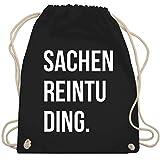 Shirtracer Festival Turnbeutel - Sachenreintuding - Unisize - Schwarz - turnbeutel sachenreintuding - WM110 - Turnbeutel und Stoffbeutel aus Baumwolle