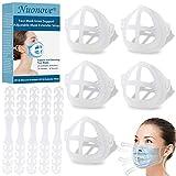 3D Silikon Halterung für Masken, Ohrhaken Maske, 3D-Maskenhalterung, Innenkissen für Masken, Maskenhalter für Bequemes Atmen, Lippenstift-Schutzständer, Einstellbare, 5 Halterungs+5 Schnallenhakens