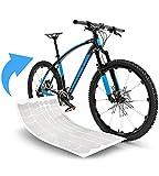 Fahrrad Schutzfolie Aufkleber Rahmenschutz für z.B. BMX, MTB, Rennrad oder E-Bike -- 24-teiliges, Transparentes Steinschlagschutz-Set