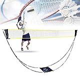 Bilisder Tragbar Badminton Netz, Faltbares Volleyball Tennis Badminton Netzgestell mit Tragetasche Einfache Einrichtung für den Garten im Außen- und Innenbereich Kein Werkzeug Erforderlich