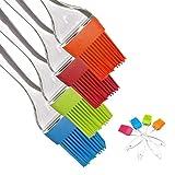 iNeibo Backpinsel Silikonpinsel aus Hitzebeständigem und Lebensmittelechtem Silikon Spülmaschinenfest. 4er Set (4 Farben)