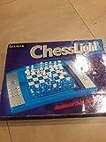 Lexibook LCG3000_12 ChessLight, Elektronisches Schachspiel mit Berührungstastatur und Licht-und Soundeffekte, 32 Stück, 64 Schwierigkeitsgrade, Batterie, Blau/Gelb