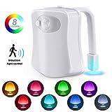 Das Nachtlicht Gadget für die Kloschüssel Lustiges LED Bewegungslicht. 2 Modi mit 8 Farben Wechsel der Toilettenschüssel Nachtlicht für Badezimmer Waschraum, Passt auf jede Toilette