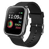 GRDE Smartwatch Bluetooth Fitness Tracker 1.3'' Voll Touchscreen Smartwatch Damen Herren 5ATM Wasserdicht Aktivitätstracker mit NEU Herzfrequenzmesser SpO2 Schlafmonitor Musiksteuerung DIY Hintergrund