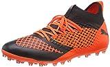Puma Herren Future 2.3 Netfit MG Fußballschuhe, Schwarz Black-Shocking Orange 02, 46 EU
