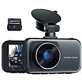 Toguard Echte 4K Dual Dashcam Vorne und Hinten, 310° Dual Auto Kamera mit Hardwire-Kit für 24/7 Parkmodus, 3' Dash Cam G Sensor, Superkondensator mit Loop-Intervall, WDR Nachtsicht, Max. 256GB