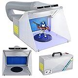 Display4top Airbrush Zubehör Absauganlage Farbe Filter Farbnebel mit LED-Licht Spritzkabinenschlauch-Kit