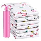 ZYN Vakuum Aufbewahrungstasche - Rosa Verpackungsbeutel Kleidung Aufbewahrungstasche Finishing Bag Small Medium
