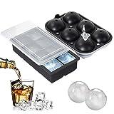 WHATOOK Eiswürfel-Set (2 Stück), flexibler Eiskugelformer, BPA-frei, leicht zu entfernen, Eiswürfel-Set am besten zum Kühlen von Wasser, Whiskey, Cocktails und anderen Getränken