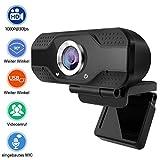 THUSTAR 1080P Webcam mit Mikrofon, PC Laptop Desktop USB 2.0 Full HD Webkamera für Videoanrufe, Studieren, Konferenzen, Aufzeichnen, Spielen mit drehbarem Clip