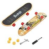 CS COSDDI 1 Stück Finger Skateboard Mini Griffbrett Mini Fingerboards Skatepark Spielzeug für Kinder als Geburtstag Geschenk (Zufällige Farbe)