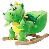 Deuba Schaukeldino   Schaukeltier Plüsch Schaukel Wippe Pferd Kinder Baby Spielzeug   Sound-Geräusche   inkl. Sicherheitsgurt   Balancetraining   besonders weich