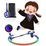 Diealles Shine Kinder Blinkender Springring, Knöchelsprungball Glühender Springender Ball Blinkender Sprungball Fettverbrennungsspiel für Kinder (Blau)