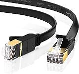 UGREEN Cat 7 Ethernet Kabel 10Gbit/s 600Mhz LAN Kabel Flaches Netzwerkkabel Cat7 FTP Kabel mit vergoldete RJ45 kompatibel mit Cat.6 Cat.5e Cat.5 für Router, Modem, Switch, PS4/3, Patchpannel usw (5m)
