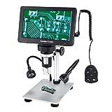 7 Zoll LCD Digital USB Mikroskop mit Verdrahtete Fernbedienung 16G TF Karte,Koolertron 12MP 1-1200X Vergrößerung Kamera-Videorecorder,8 LED Füllleuchten,Wiederaufladbare Batterie für Löt PCB Münzen